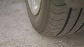 Close-up of a car wheel.  stock video footage