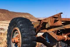Close up car wreck desert Royalty Free Stock Photo