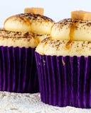 Close up of caramel cupcakes Stock Photos