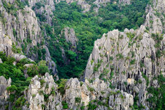 Close up of carbonate mountain - Khao Dang,Sam roi yod Stock Images