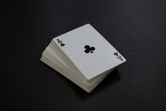 Close-up of card deck Stock Images