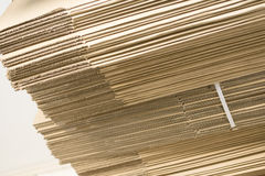 Close-up of cardboard sheets on white background Royalty Free Stock Photo