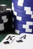 Close up cards and chips Royalty Free Stock Photography
