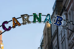 Close Up Of Carnaby Street Sign In London Royalty Free Stock Image
