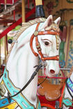 Close-up of carousel horses for children amusement in France Stock Photography