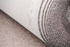 Close up on carpet roll for home improvement Stock Image