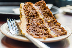 Close Up Of Carrot Cake With A Fork A Stock Photography
