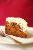 Close up carrot cheese cake Stock Photography