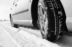 Winter tyre Stock Images