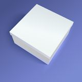 Close up carton box on colored background Royalty Free Stock Photography