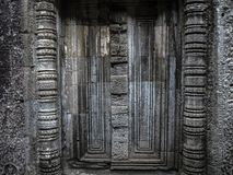 Texture wall of Angkor Wat stock image