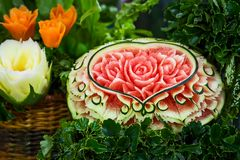 Close up of carved watermelon. Stock Photography