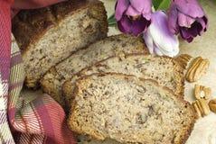 Close up caseiro do pão de banana Fotos de Stock Royalty Free