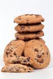 Close up caseiro dos biscoitos no fundo branco Imagem de Stock