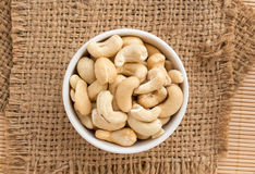 Close up cashews in the bowl Stock Photos