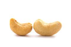 Close up cashews nut on white background Royalty Free Stock Photos
