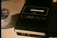 Close-up of cassette player stock video