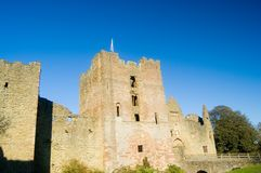 Close up of the castle. Ludlow castle Stock Images