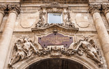 Close up at castle courtyard gate at Buda Castle Stock Photo
