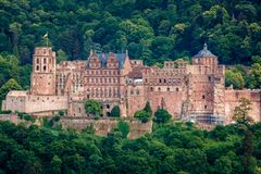 The castle Castle Ruin in Heidelberg, Baden Wuerttemberg, Germany stock images
