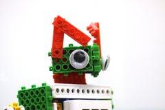 Close up of a cat robot stock photography