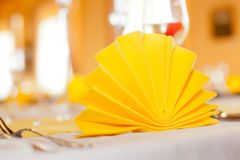Close-up catering table Stock Photography