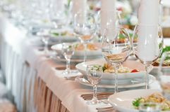 Free Close-up Catering Table Set Royalty Free Stock Photography - 17757427