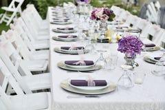 wedding table set Royalty Free Stock Photography