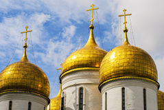 Close up The Cathedral of the Annunciation in Kremlin, Moscow, Russia Stock Images