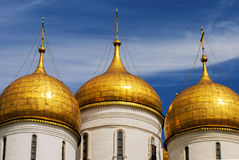 Close up.The Cathedral of the Annunciation in Kremlin, Moscow, Russia Stock Photos