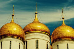 Close up The Cathedral of the Annunciation in Kremlin, Moscow, Russia Stock Photo