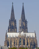 Close up of the cathedral in Cologne in germany Royalty Free Stock Image