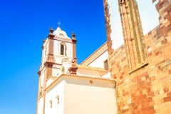 Close up of cathedral in Silves, Portugal Stock Photos
