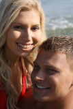 Close-up of caucasian couple Stock Photography