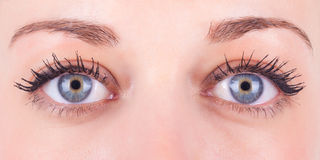 Close up of a caucasian women's eyes Stock Photo