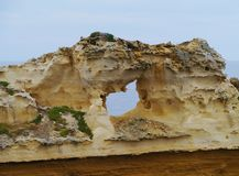 A close up of a cave in the Loch Ard Gorge Stock Image