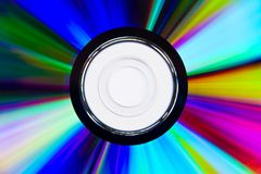 Close up of CD or DVD Royalty Free Stock Photos