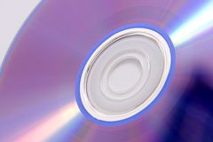 Close-up of cd-rom. On white background royalty free stock photography