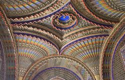 Close up of the ceiling in the Peacock room Royalty Free Stock Photo