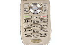 Close up of a cell phone keypad Stock Images