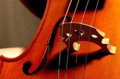 Close up of cello. Close up of music string Stock Photography