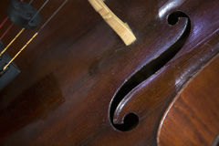 Close-up of cello Stock Images