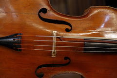Close-up of cello Royalty Free Stock Photo