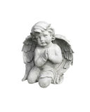 Close up cement cherub doll Royalty Free Stock Photography