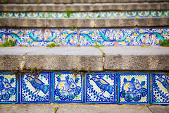 Close-up ceramic tiles on the steps Stock Photos
