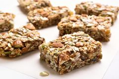 Close up of cereal granola bar Stock Photography