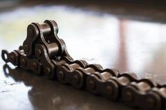 Close up chain da bicicleta Fotografia de Stock Royalty Free