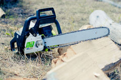 Close up chain saw Royalty Free Stock Image