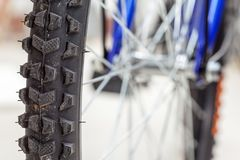 Chain and sprocket of bicycle. In close up of a Chain and sprocket of bicycle royalty free stock photos