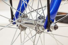 Chain and sprocket of bicycle. In close up of a Chain and sprocket of bicycle stock photography